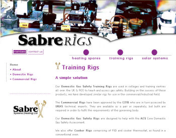 Sabre Training Rigs