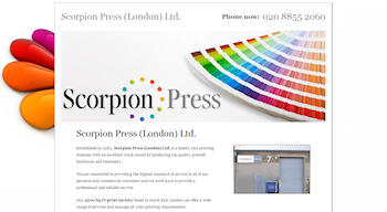 Photo: New website for Scorpion Press Ltd.
