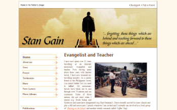 Photo: Stan Gain's website gets new features