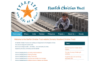 Photo: Brand new website for Starfish Christian Trust