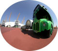 Fisheye - Green Bus