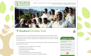 Photo: New website for Woodland Christian Trust